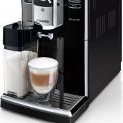 Saeco HD8917/01 Incanto Kaffeevollautomat (1850 Watt, AquaClean, integrierte Milchkaraffe)